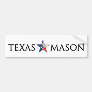 Texas Mason Bumper Sticker