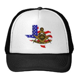 Texas Masonic Cap Mesh Hats