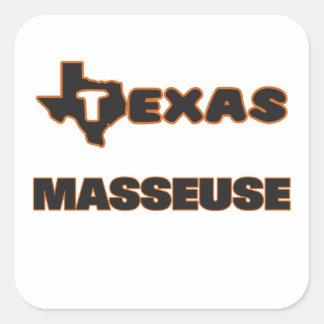 Texas Masseuse Square Sticker