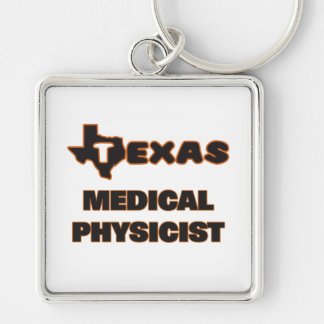 Texas Medical Physicist Silver-Colored Square Key Ring