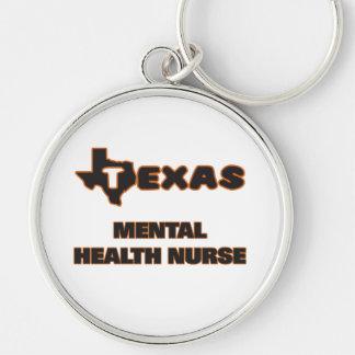 Texas Mental Health Nurse Silver-Colored Round Key Ring