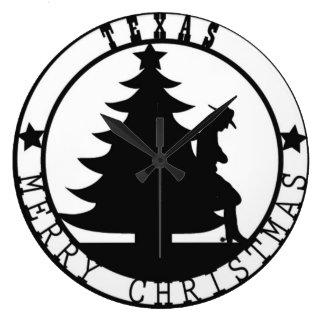 Texas Merry Christmas Clock