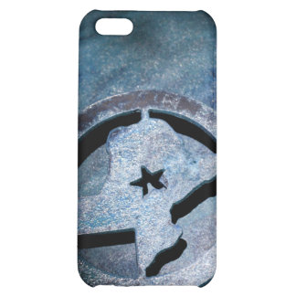 Texas Metal Star Map iPhone 4 Rusty Blue iPhone 5C Cases