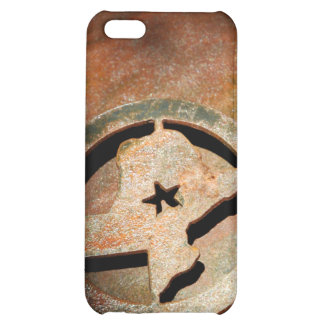 Texas Metal Star Map iPhone 4 Rusty Brown iPhone 5C Covers