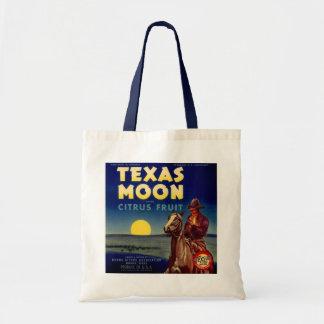 Texas Moon Citrus Fruit Crate Label Budget Tote Bag