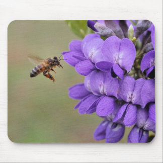 Texas Mountain Laurel Bee in Flight Mouse Pad