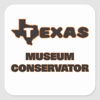 Texas Museum Conservator Square Sticker