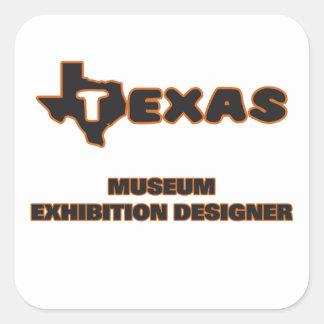 Texas Museum Exhibition Designer Square Sticker