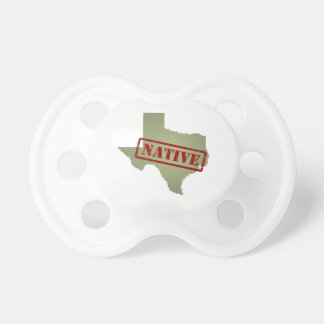 Texas Native with Texas Map Pacifiers
