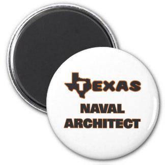 Texas Naval Architect 6 Cm Round Magnet