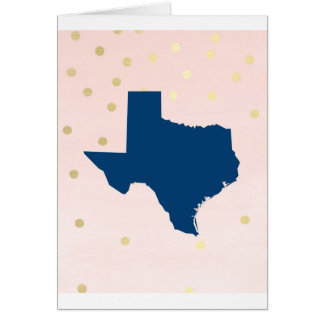 Texas Navy Blue Pink Gold Cards