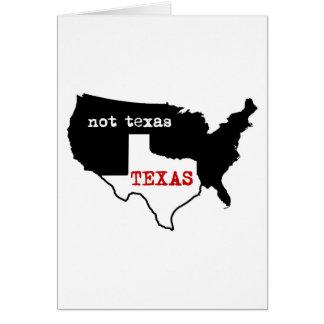 Texas / Not Texas Card