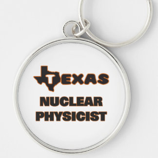 Texas Nuclear Physicist Silver-Colored Round Key Ring