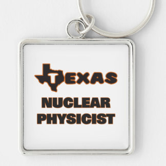 Texas Nuclear Physicist Silver-Colored Square Key Ring