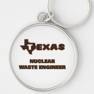 Texas Nuclear Waste Engineer Silver-Colored Round Key Ring