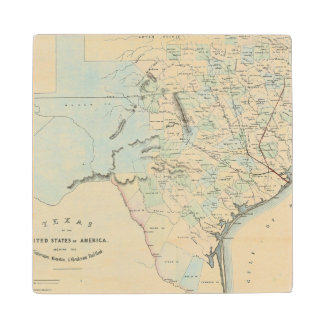 Texas of the United States of America Wood Coaster