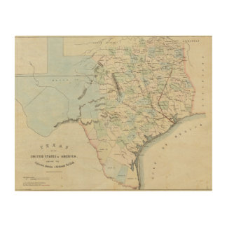 Texas of the United States of America Wood Wall Art