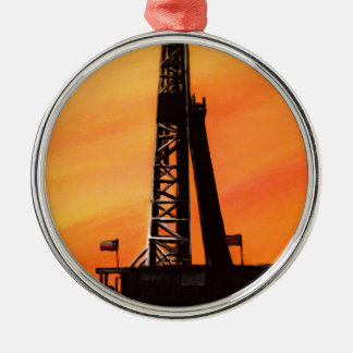 Texas Oil Rig Christmas Ornament
