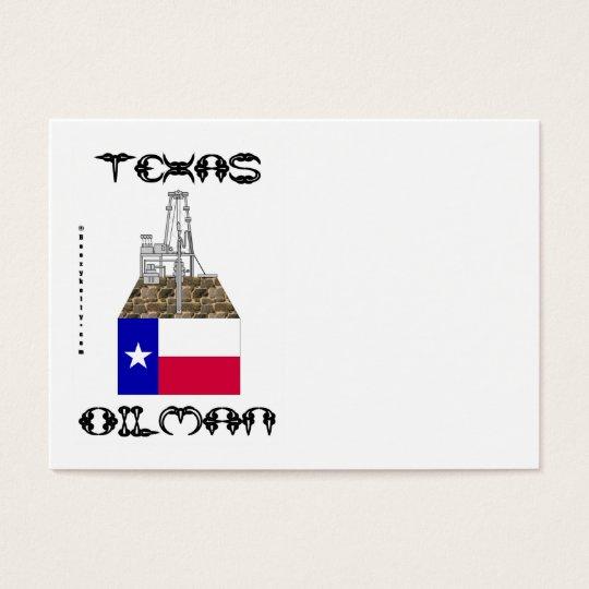 Texas Oilman,Business Cards,Oil,Gas,Rig,Flag