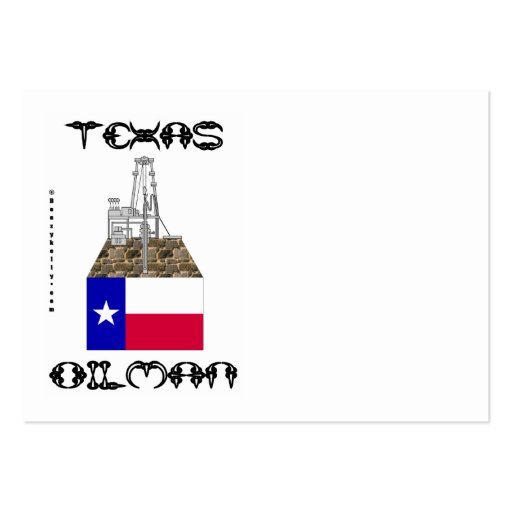 Texas Oilman,Business Cards,Oil,Gas,Rig,Flag Pack Of Chubby Business Cards