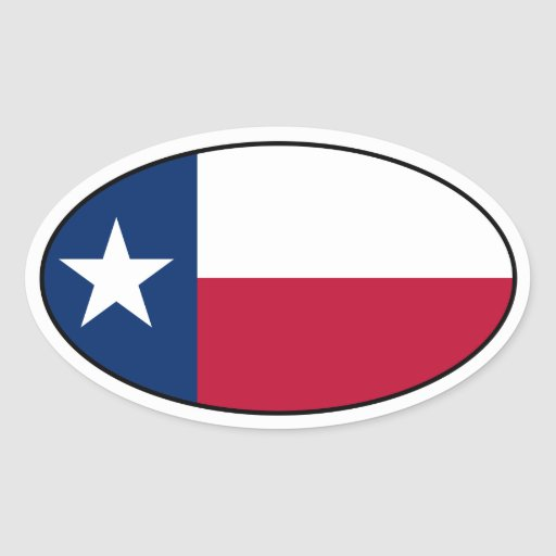 Texas Oval Flag Sticker