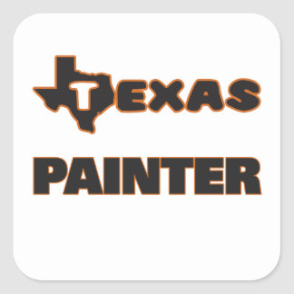 Texas Painter Square Sticker
