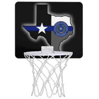 Texas Parole Division Thin Blue Line Mini Basketball Hoop