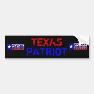 Texas Patriot Bumper Sticker
