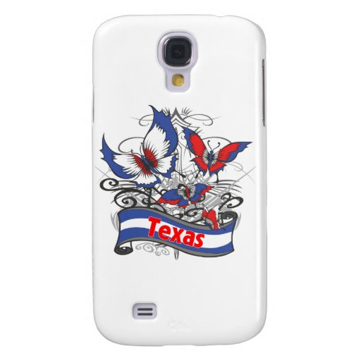 Texas Patriotism Butterfly Samsung Galaxy S4 Cases