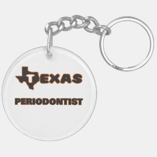 Texas Periodontist Double-Sided Round Acrylic Key Ring