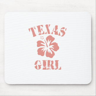 Texas Pink Girl Mouse Pad