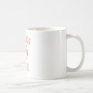Texas Pink Girl Basic White Mug