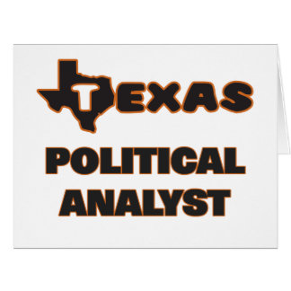 Texas Political Analyst Large Greeting Card