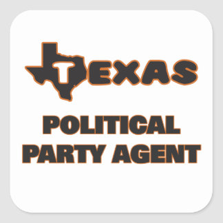 Texas Political Party Agent Square Sticker