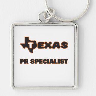 Texas Pr Specialist Silver-Colored Square Key Ring