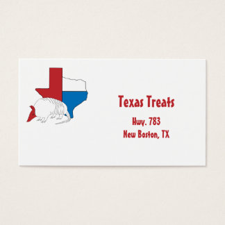 Texas Pride Armadillo Business Card
