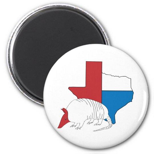 Texas Pride Armadillo Magnet