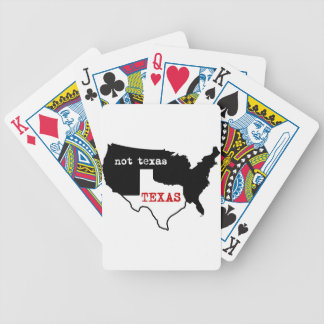 Texas Pride! Texas / Not Texas Bicycle Playing Cards