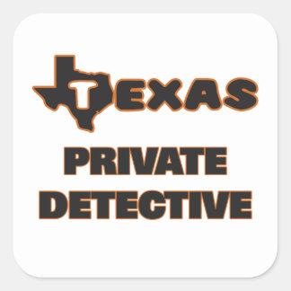 Texas Private Detective Square Sticker