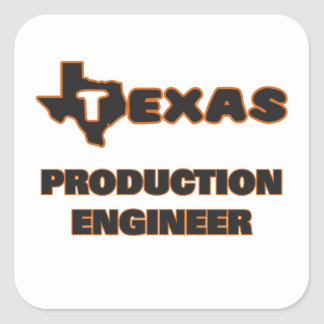 Texas Production Engineer Square Sticker
