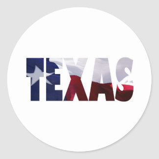 Texas Proud Round Sticker