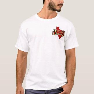 Texas Quads Logo Stacked - White T-Shirt