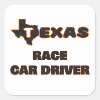 Texas Race Car Driver Square Sticker