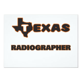 Texas Radiographer 5x7 Paper Invitation Card