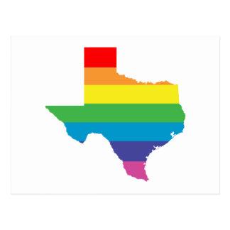 texas rainbow postcard