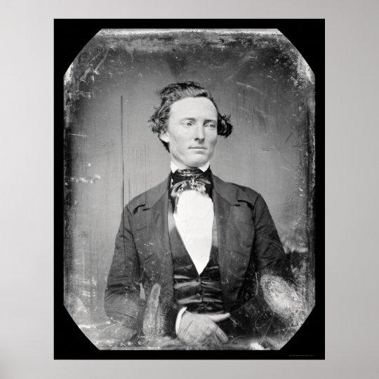 Texas Ranger Captain Walker Daguerreotype 1846 Poster