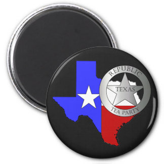 Texas Ranger Tea Party - Black Magnet