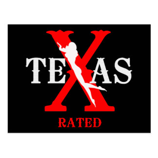 Texas Rated - X Rated Postcard