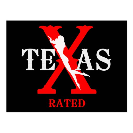 Texas Rated - X Rated Post Cards
