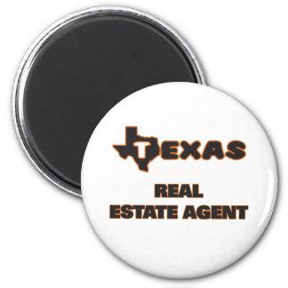Texas Real Estate Agent 6 Cm Round Magnet